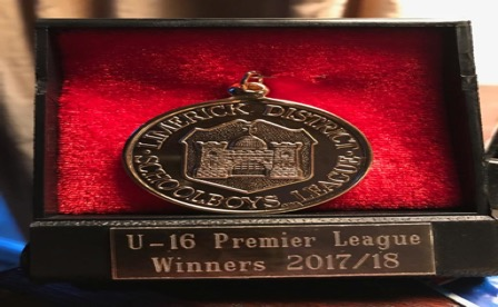 U16 Premier League winners 17_18. Manager Shane Ryan